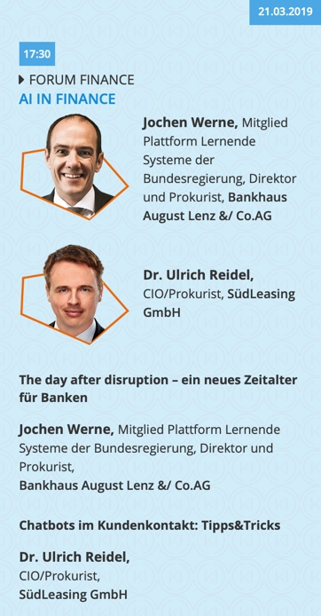 AI in Finance Session in the Handelsblatt KI-SUMMIT
