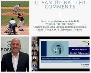 Jochen Werne - acatech Webtalk Clean-up batter comments